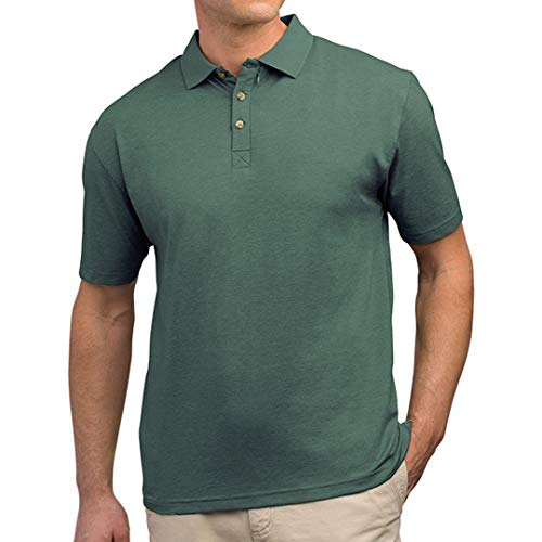 SCOTTeVEST Men's Bamboo Polo Shirt | 3 Concealed Pockets | Anti-Pickpocket Forest Green