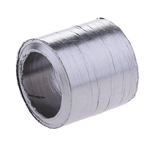 Junta de Tubo de Escape Parte de Silenciador para Dirt/Bike/ATV/Scooter - Diámetro Interno 28/32 / 38mm - Negro 37mm id28mm