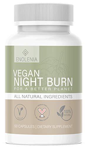 NEU: Enolenia® NIGHT F-BURN Kapseln VEGAN - 1 Kapsel pro Nacht mit Garcinia Cambogia Extrakt - für Männer & Frauen, schnell + Hochdosiert - aus hochwertiger Produktion in Deutschland (1x)