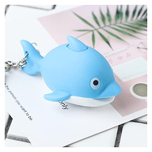 yqs Llaveros Lindo del delfín Azul LED Luz Sonique Colgante de Animales con Anillo de Llavero de Sonido Accesorios de Regalo (Color : Blue)