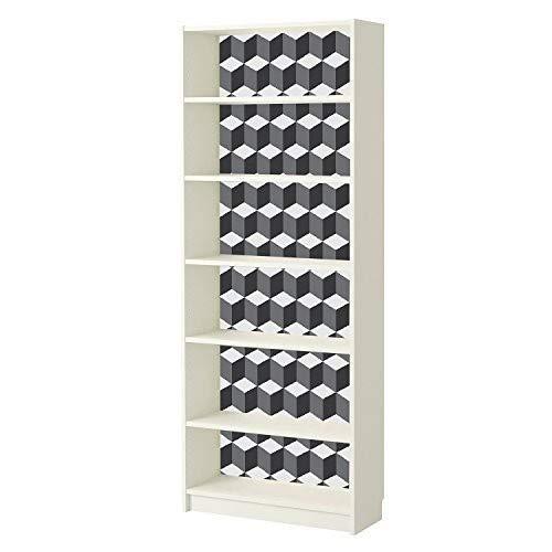 WALPLUS 3D blokjes patroon muurstickers, Vinyl, meerkleurig, 7,6 x 63,5 x 3 cm
