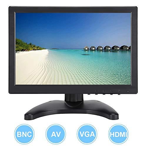 Tosuny 10.1in Portable Monitor 1920x1200 16:10 Full HD LED Screen Display HD Monitor Dual Speakers with HDMI/VGA/AV/BNC Input(US Plug)