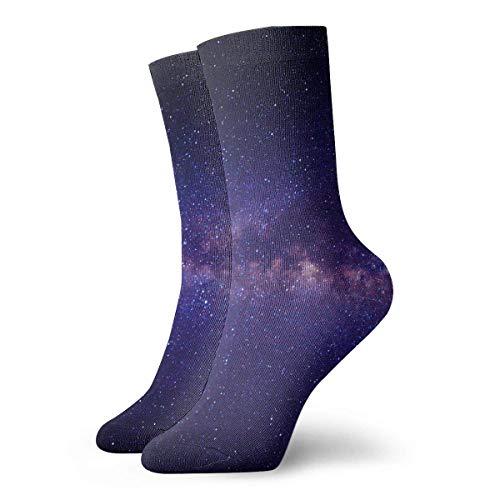 Drempad Luxury Sportsocken Galaxy Nebula Space Astronomy Stars Adult Short Socks Cotton Cute Socks for Mens Womens Yoga Hiking Cycling Running Soccer Sports