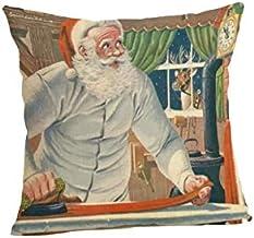 Pengcher Christmas Santa Home Decor Pillowcase Decoration Sofa Car Cushion