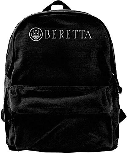 Canvas Backpack Beretta Weapon Gun Rucksack Gym Hiking Laptop Shoulder Bag Daypack for Men Women