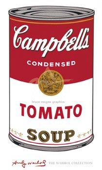 Warhol, Andy - Campbell's Soup I (Tomato), 1965 - Kunstdruck Artprint - Grösse 100x60 cm