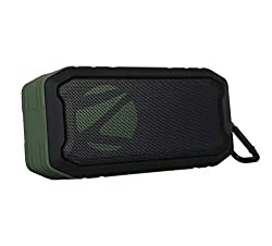Zebronics Zeb-Tough Portable Bluetooth Supporting Speaker Comes with, FM, AUX, Built in Mic, TWS Function, IPX7 Waterproof and Supports USB & mSD (Black),Zebronics