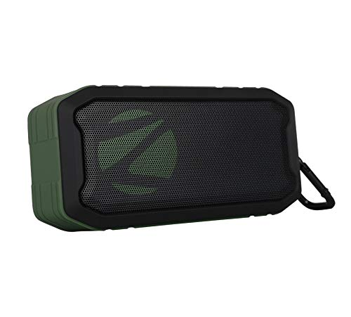 Zebronics Zeb-Tough Portable Bluetooth Supporting Speaker Comes with, FM, AUX, Built in Mic, TWS Function, IPX7 Waterproof and Supports USB & mSD (Black)