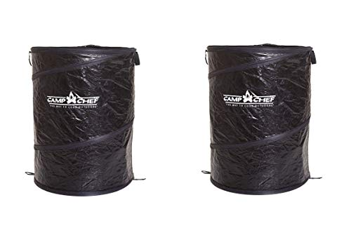 Camp Chef GCAN Collapsible Camping Garbage Can (Black, 26-Inch) (Pack of 2)