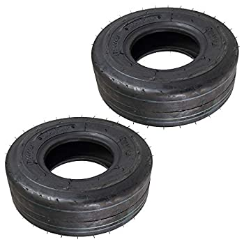 Kenda Set of 2 OEM Slick Tubeless 4 Ply Mower Tire 11x4.00x5 104040552B1