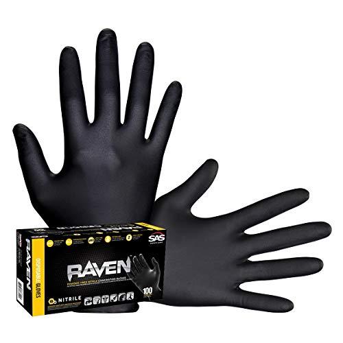 Raven Powder-Free Nitrile Gloves -Large
