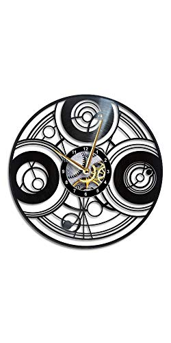 AroundTheTime Doctor Who Clock - Gallifrey - Vinyl Record Wall Clock - Dr Who Gift Decor