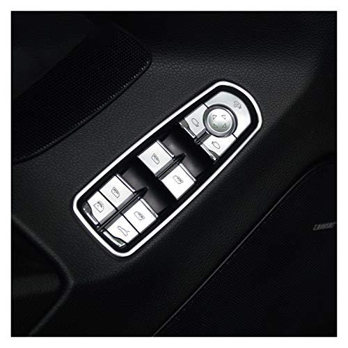 Piezas de automóviles Calcomanías De Ajuste De Lentejuelas con Botones De Elevación De Vidrio para Ventana De Coche para Porsche para Panamera para Cayenne para Macan Decoración
