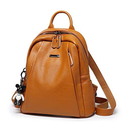 BUKESIYI Damen Tasche Rucksack Handtasche Frauen backpack Klein Anti Diebstahl Schulrucksack Laptop Weekender PU Leder CCDE78172 Braun