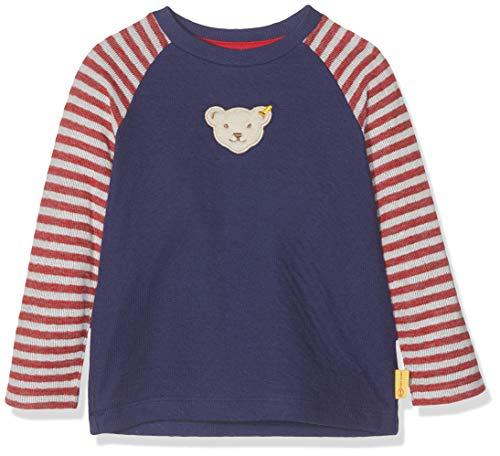 Steiff Langarm T-Shirt À Manches Longues, Gris (Patriot Blue 6033), 95 (Taille Fabricant: 80) Bébé garçon