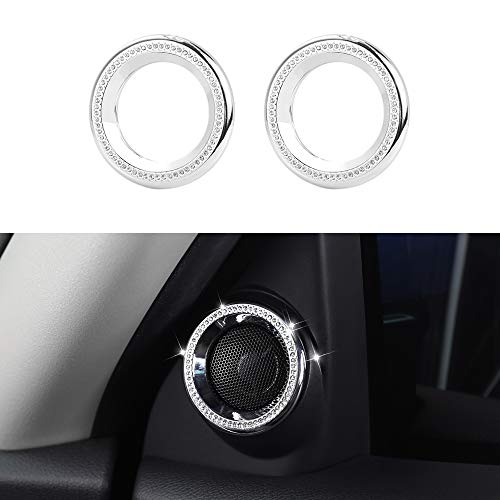 CKE for 10th Gen Civic Bling Crystal Audio Speaker Ring Cover Interior Door Trim for Honda Civic Accessories 2020 2019 2018 2017 2016