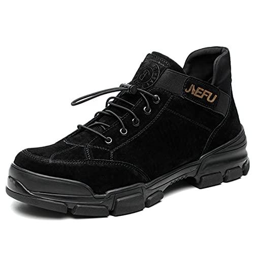Zapatos de trabajo Botas de seguridad Zapatos industriales de zancada suave para hombres Botas de trabajo de seguridad para hombres Zapatos de seguridad antiestáticos de ajuste ancho para hombres