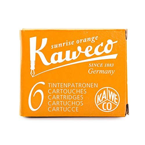 Kaweco Füller Tintenpatronen Sunrise Orange für Patronen-Füller mit kurzen Standardpatronen I 6 Füllerpatronen für Tintenpatronen Füller vieler Markenenhersteller I Tinte für Füller Orange