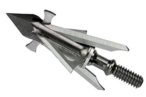Muzzy Trocar HBX Hybrid 4 Blade Crossbow Broadhead, 100 Grain