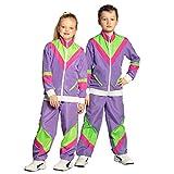 Boland 88522 - Kinderkostüm 80er Jahre Trainingsanzug mit Taschen, Jacke und Hose, verschiedene...