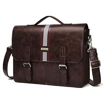 ECOSUSI Men's Briefcase PU Leather Shoulder...
