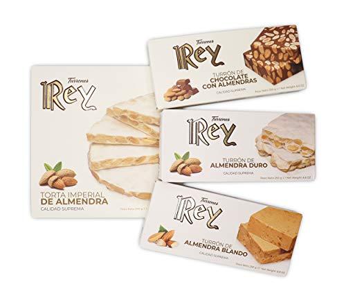 REY SURTIDO TURRONES: DURO, BLANDO, TORTA Y CHOCOLATE