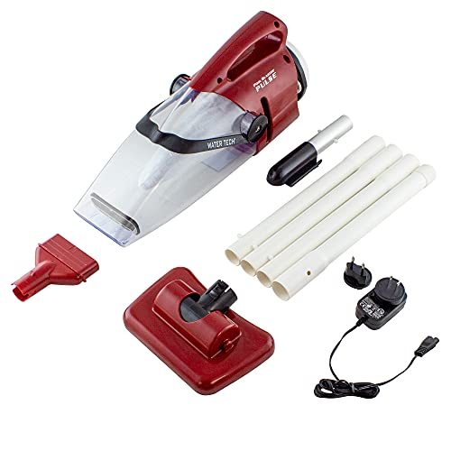 """POOL BLASTER Water Tech Pulse Cordless Rechargeable, Battery-Powered, Pool-Cleaner, 7.5"""" Vacuum Head with Brushes, Ideal for Cleaning Leaves, Dirt and Sand Includes Four Piece Pole Set (45"""" Length)"""