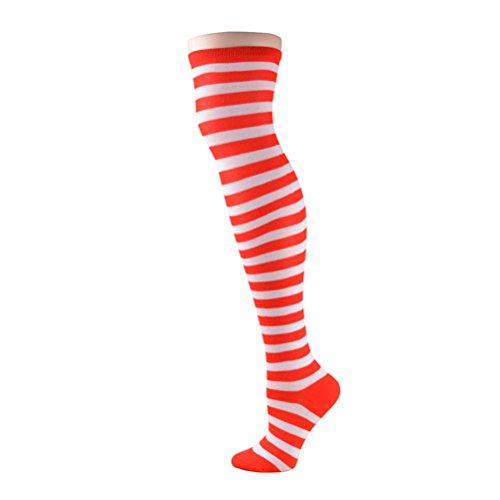 Tinksky Cosplay Dekoration Party Supplies Clown Socken Zirkus Kostüm (rot und weiß)