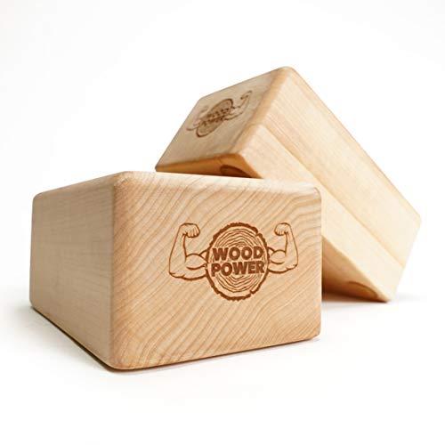Bloque de equilibrio Woodpower (edición plana), soldador de mano y bloque de yoga en uno, apoya tus muñecas en entrenamiento de peso corporal, gimnasia, acrobacia, yoga y mucho más.