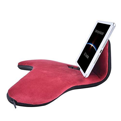 Tablet Sofa Holder Pad Pillow Stand for iPad Air & iPad, Three Angles Universal Phone&Tablet Pillow Stands and Holders Can Be Used on Bed, Desk, Lap, Sofa, Couch (Color : Wine red)