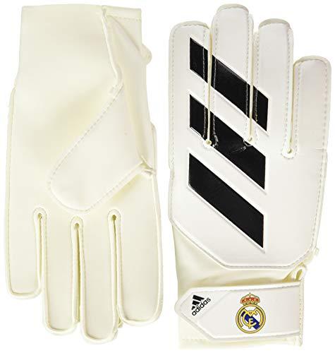 adidas Pro Real Madrid Guantes de Portero, Infantil, Color Blanco y Negro, 6