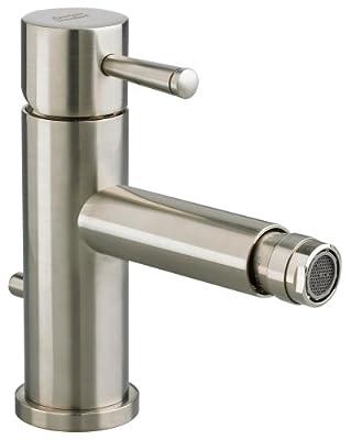American Standard 2064.011.295 Serin Monoblock Bidet Fitting with Metal Pop Up Drain and Metal Lever Handle, Satin Nickel
