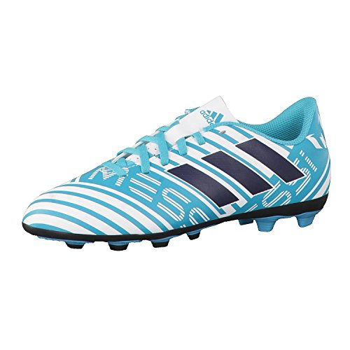 adidas Nemeziz Messi 17.4 FxG J, Botas de fútbol Unisex niños, (Ftwbla/Tinley/Azuene), 30.5 EU