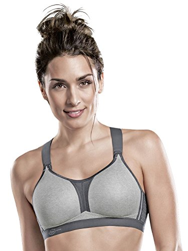 Anita Women's Active Dynamix Star Max Support Sports Bra 5537 34F Heather Grey