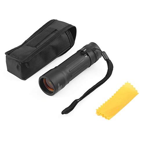 Greatangle Ligero Pocket Focus Zoom Telescopio monocular 10x25 Senderismo Caza Camping Deportes al Aire Libre Viajes Práctico Alcance con Bolsa de Transporte