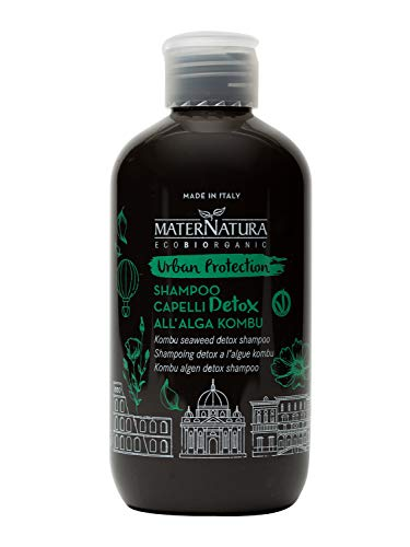 Maternatura Shampoo Capelli Detox All'Alga Kombu, Beauty Routine Urban Protection - 250 Ml