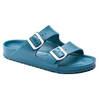 BIRKENSTOCK Unisex Arizona Essentials EVA Sandal, Turquoise, 37 N EU