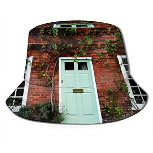 Sun Cap Exterior Puerta Principal Hermosa casa Vieja Cubo Sombrero para el...