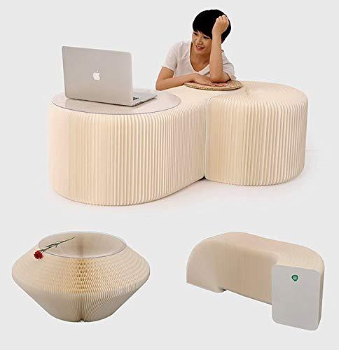 BLOSSOM LIFE Home Meubilair Softeating Modern Design Accordin Folding Paper Kruk Bank Stoel Kraft Papier Ontspannende voet Kruk-Mode Papier Ontwerp