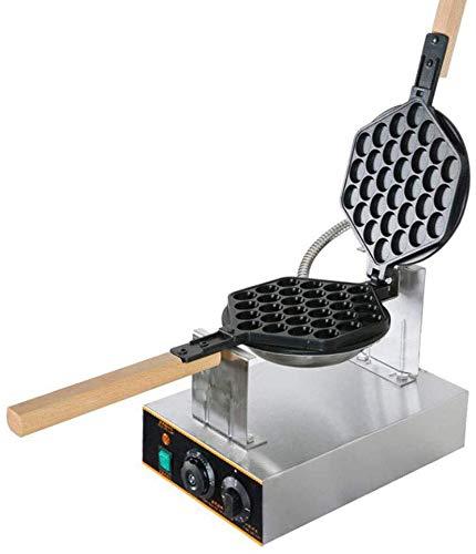 NOSSON Kuchen-Hersteller Gewerbe elektrische Ei-Blase Waffeleisen, Küche Puffle Waffel-Hersteller Nonstick Pancake-Maschine Doppelseitiger Circulation Heizung 1400W