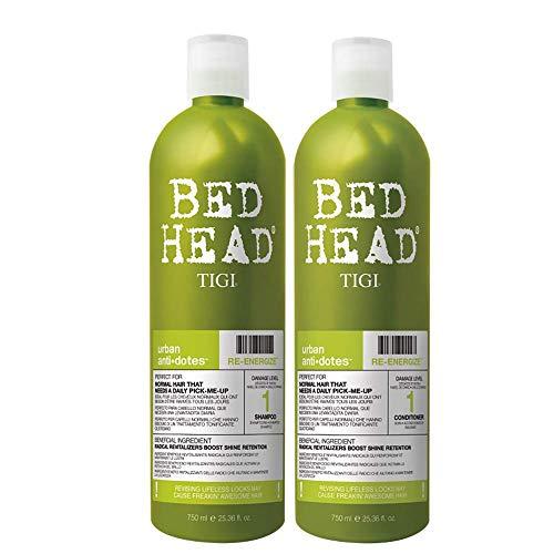 TIGI Bed Head Urban Anti+Dotes Re-Energize Level 1 Shampoo & Conditioner Rivitalizzanti per Uso Quotidiano - 1500 g