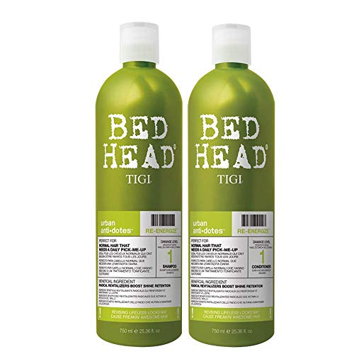 TIGI Bed Head Urban Anti+Dotes Re-Energize Level 1 Shampoo & Conditioner Rivitalizzanti per Uso Quotidiano - 1500 g