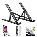 Zyra Adjustable Laptop Stand Holder with Built-in Foldable Legs