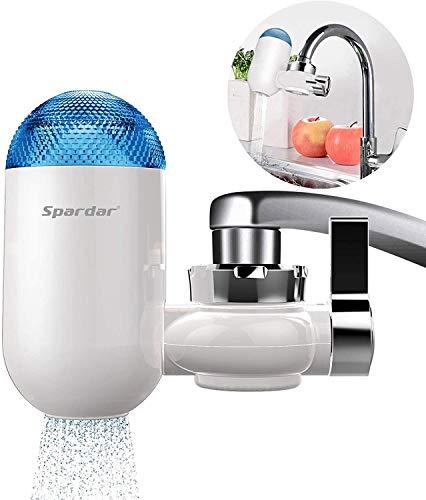 Spardar Filtro de Grifo Agua Purificador de Agua del Grifo Sistema de Filtracion para Agua Dura Facil de Instalar Elimina el Fluoruro de Plomo de Cloro y Otras Impurezas Irritantes