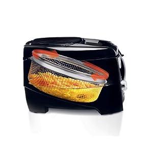 De'Longhi D895 DeLonghi D28313UXBK Roto Deep Fryer, Black/Silver, 12.2 x 9.45 x 14.17 inches