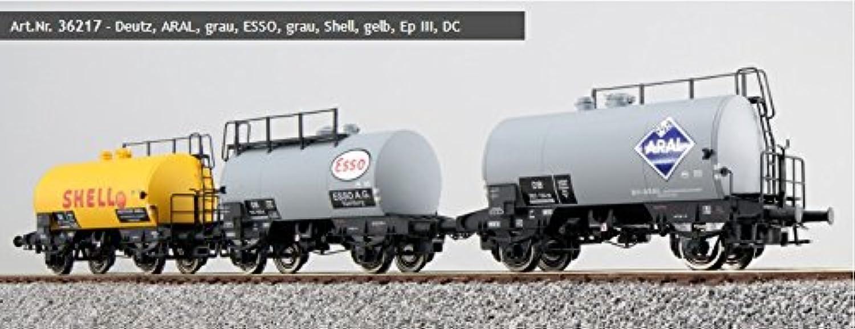ESU 36217 H0 Set Kesselwagen Deutz ARAL ESSO Shell Ep.3 3teilig