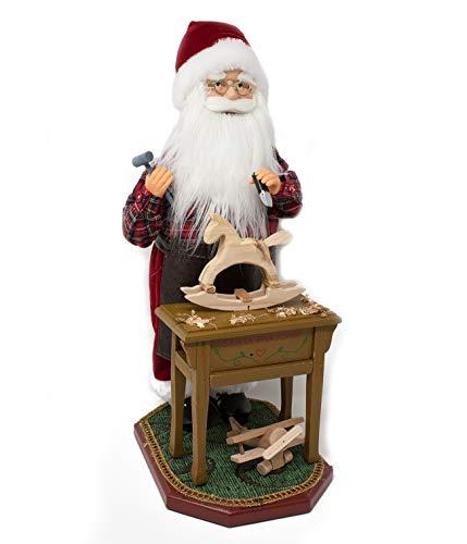 Joy Christmas Babbo Natale con Musica e Movimento 45 cm con Banchetto da Lavoro