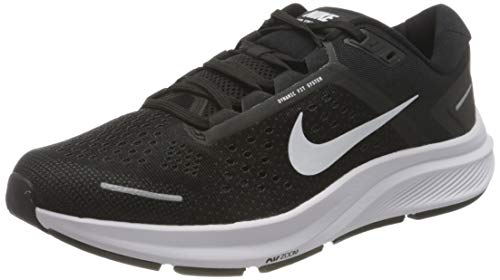 Nike Air Zoom Structure 23, Running Shoe Hombre, Black/White-Anthracite, 42 EU