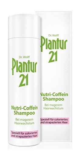 Plantur 21 Nutri-Coffein Shampoo – Shampoo zur Pflege und Verbesserung des Haarwachstums – für coloriertes und strapaziertes Haar – silikonfrei – 1 x 250 ml