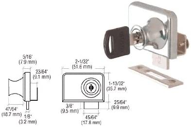 All items in the store CRL Chrome Plated Lock for 1 4